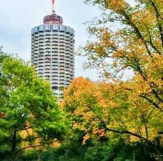2-Zimmer Appartement im 26. Stock des Hotelturms mit tollem Blick über Augsburg