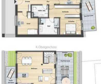 5 Zimmer Penthaus mit Dachterrasse + KFW FÖRDERUNG