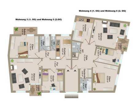3 Zimmer-Eigentumswohnung (1. OG bzw. 2. OG-87m²) mit Balkon in Zentrumslage von Landau
