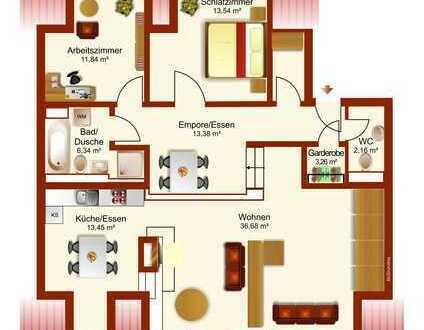 Große 3,5 -Zimmer Wohnung mit besondere Aufteilung