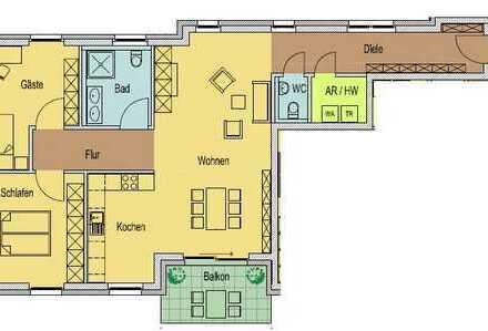 Stadtmitte! Erstbezug Neubau - 3-Zi. Wohnung in zentraler Lage von Krefeld!