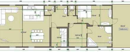 Luxus Wohnung mit sichtbarem Dachstuhl und 24qm Terrasse