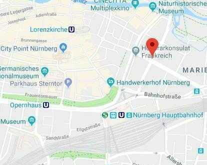 Möbliertes Zimmer in Nürnberg 2Minuten zu Fuß vom Hauptbahnhof