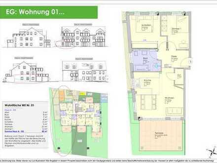 NEUBAU - 82m² 3ZKB Erdgeschosswohnung Ingolstadt/Süd - Provisionsfrei! (WE 01)