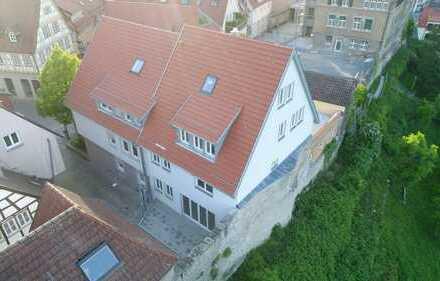Neubau WHG mit mega Terrasse u. Aussicht in historischer Altstadt Besigheim