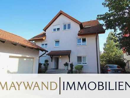 Top gepflegte 4-ZKB-Maisonette-Wohnung plus Dachstudio, Balkon & Garage in ruhiger Lage