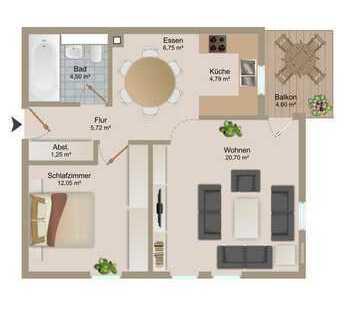 helle 2-Zimmer-Wohnung im Zentrum von Gröbenzell