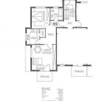 Gepflegte 2-Zimmer-EG-Wohnung mit Terrasse und Einbauküche in Bad Überkingen