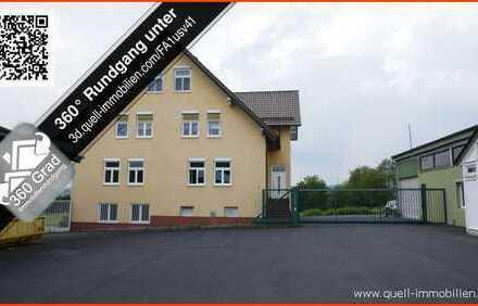 Büro/ Wohnhaus + Gewerbekomplex mit 4 Lagerhallen + PV-Anlage in guter Lage von Eiterfeld