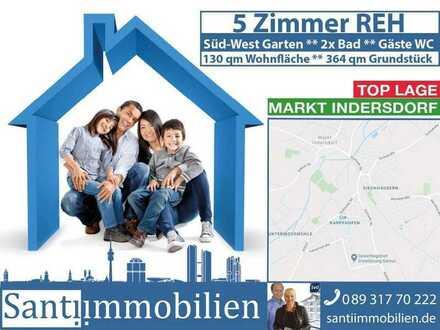 5 Zi. REH mit Süd-West Garten, Bestlage Markt Indersdorf