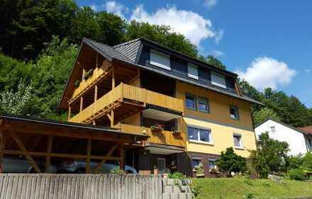 Großzügige 3,5-Zi.-Wohnung mit großem überdachten Balkon u. Carport in Lautertal OT
