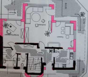 große Wohnung mit Balkon und Einbauküche in Neukirch
