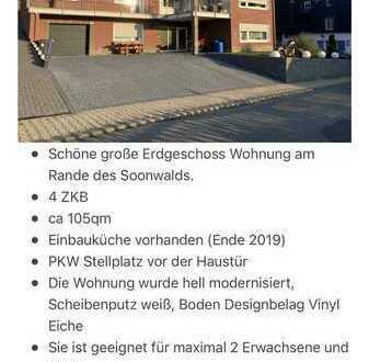 Ruhige Erdgeschoss Wohnung Riesweiler