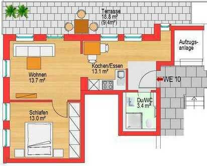 Hochwertige Wohnung mit toller 18,8 qm Dachterrasse
