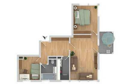 Helle, großräumige, gute geschnittene Dachgeschosswohnung