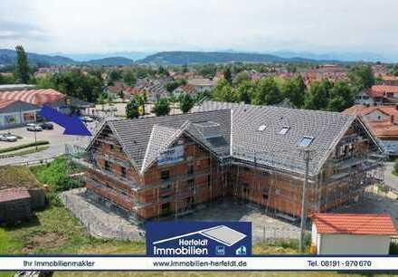 Moderne 3-Zimmer-Dachgeschoss-Neubauwohnung mit Garage + Stellplatz