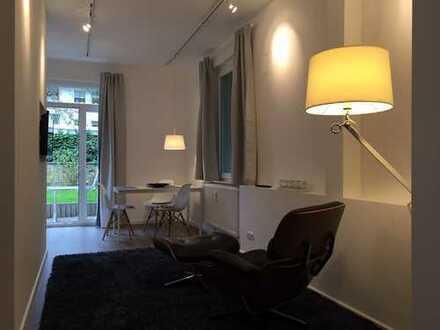 Möbliertes 1,5 Zimmer Apartment mit Terrasse in der Braunschweiger Innenstadt.