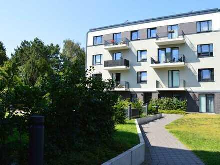 Neubau in zweiter Reihe-3-Zimmer-Wohnung mit zwei Balkonen im Innenhof an der Alsterkrugchaussee