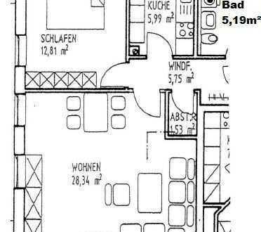 Sonnige 2-Zimmerwohnung samt Einbauküche in Roding in ausgesprochen schöner Lage