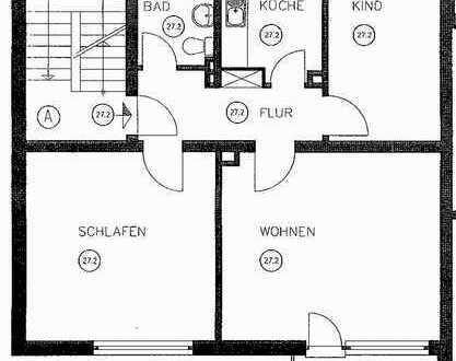 Dingden, ruhige 3 ZKDB Wohnung in ordentlichem Haus