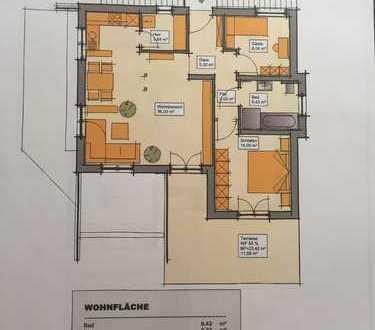 Erstbezug mit Terrasse: schöne 3-Zimmer-Wohnung in Dillingen an der Donau