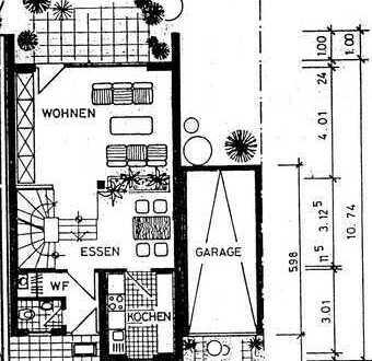 Reihenendhaus in bevorzugter Lage in MA-Feudenheim mit Einzelgarage