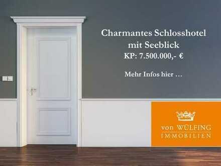 In traumhafter Lage: Charmantes Schlosshotel mit direktem Seeblick...