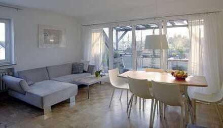 Investoren 4%Rendite: Waldblick-Balkon, hell+ruhig, Kamin, Raumaufteilung++, Vermietet, separates DG