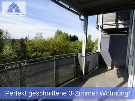 Perfekt geschnittene 3-Zimmer Wohnung mit sonnigem Süd-Balkon und wunderschöner Lage in Rabenstein!
