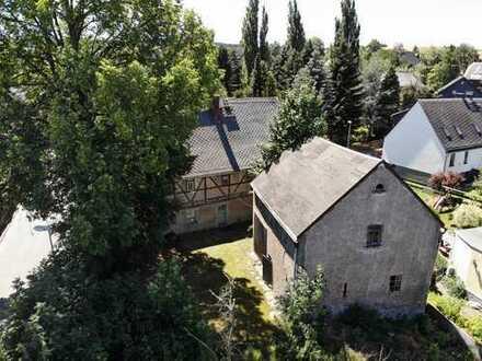 Malerisch gelegenes, großes Bauernhaus mit Scheune in Neukirchen OT Adorf