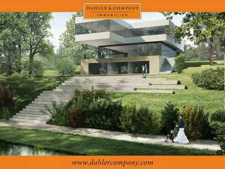 Moderne Villa mit Blick auf den Jungfernsee bis hin zum Königswald