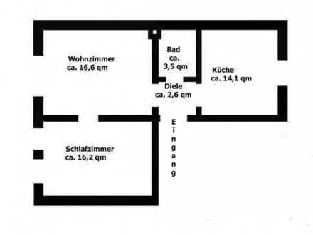 Freundliche 2,5-Zimmer-DG-Altbau-Wohnung mit Einbauküche in Bochum