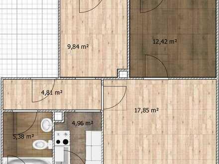 Attraktive 3-Zimmer-EG-Wohnung mit Einbauküche in Schonungen