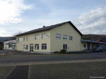 Großzügige, beheizbare Halle mit großem Grundstück und Einliegerwohnung in Brachttal zu verkaufen