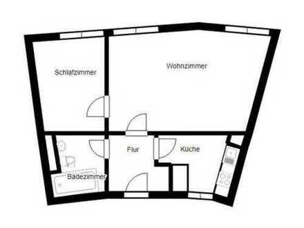 2-Zimmer-Wohnung mit Einbauküche in Top Lage in Frankfurt am Main