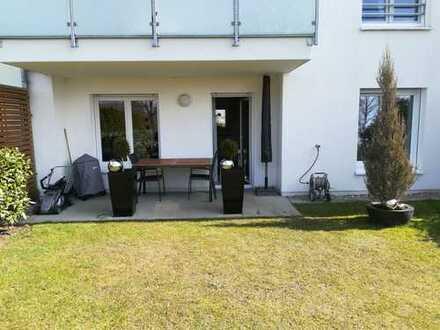 Schöne möblierte Gartenwohnung im Wiley mit 100m² privatem Garten in Randlage