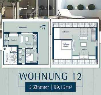 Moderne Penthousewohnung mit 3 Zimmern in Husum am Klostergarten