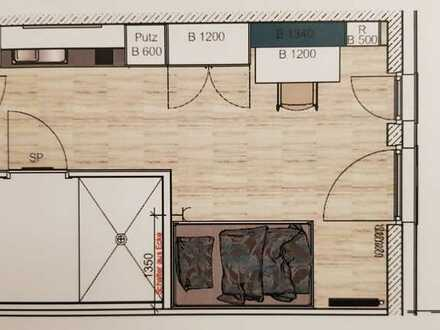 Top Modernes & Möbliertes 1 Zimmer Apartment mit Balkon   Für Studenten und Uni Mitarbeiter