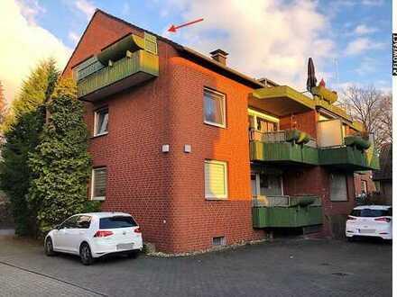 64 m² Dachgeschosswohnung mit Balkon u. Garage