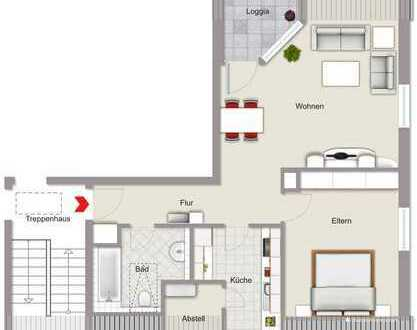 2 Zimmer-Dachgeschoss-Wohnung mit Terrasse