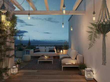 Über den Dingen, über der Stadt: 3-Zi.-Whg. im DG mit Loggia, Balkon und Dachterrasse