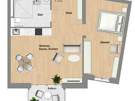 Schlüchtern-SeniorenWohnen: 2 Zimmer-Wohnung mit Balkon im Erstbezug - TYP 59