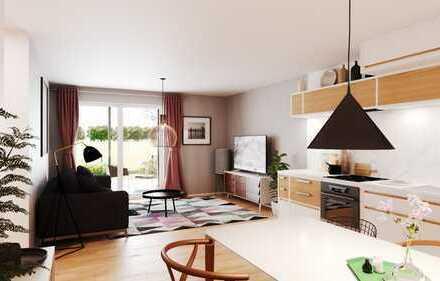 Singlewohnung - 2 Zimmer mit Garten und zusätzlich ausgebautem Hobbyraum im Souterrain