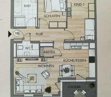 Stilvolle, neuwertige 3-Zimmer-Wohnung, gehobene Ausstattung inkl. Tiefgaragenstellplatz in Langen