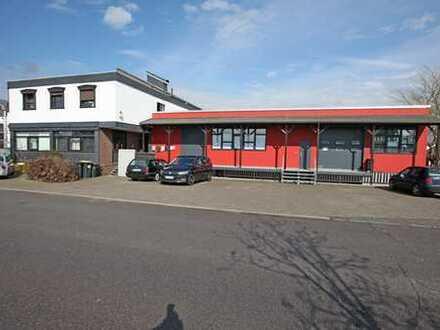 Gewerbeimmobilie bestehend aus einer Büro-Lager-Werkstatthalle + 2 Wohnungen in Monheim