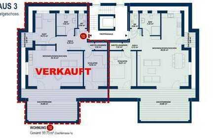 Exklusives Penthouse mit großer und kleiner Dachterrasse