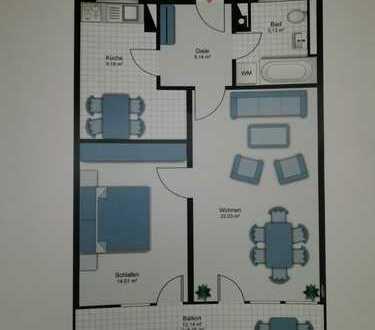 Freundliche 2-Zimmer-Wohnung mit sehr gutem Grundriss in Perlach
