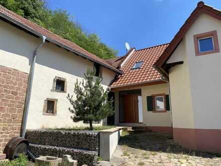 Winzerhaus mit Blick auf die Wachtenburg