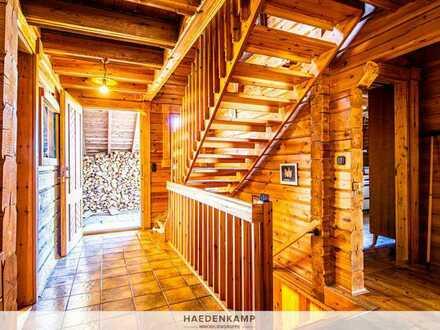 Finnisches Holzblockhaus in Ortsrandlage nahe Türkheim