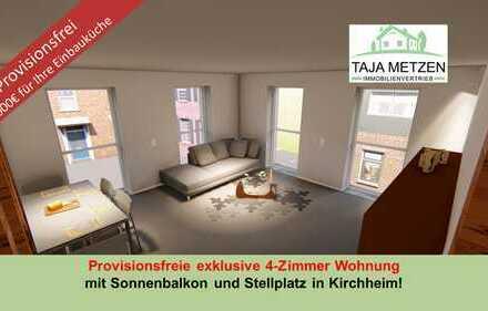 Provisionsfreie Exclusive 4 Zimmer Neubauwohnung mit Sonnenbalkon und Stellplatz